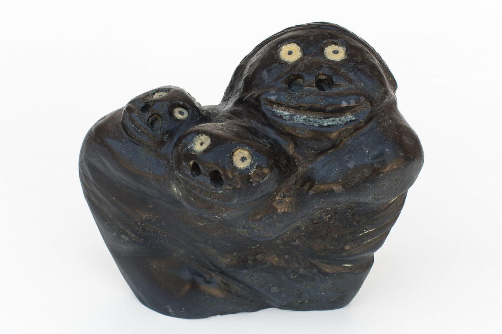 Nelson Takkiruq - untitled (three faces)