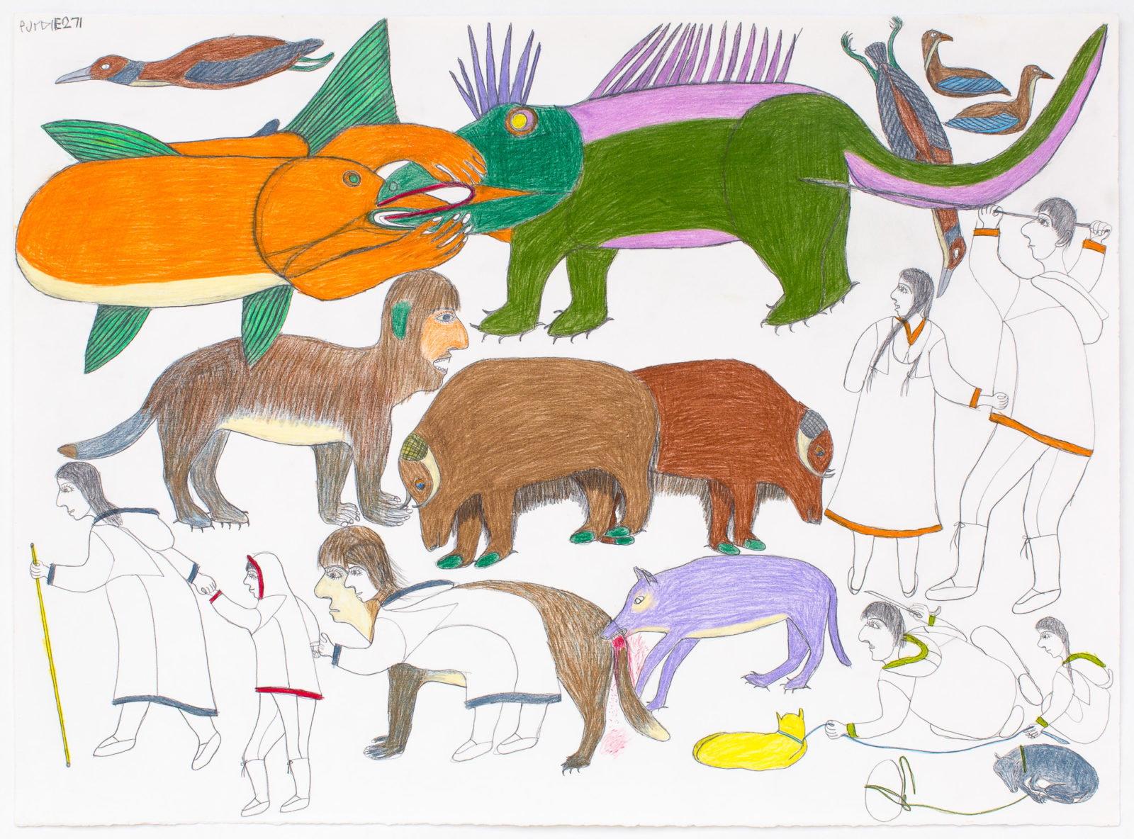 Janet Kigusiuq - untitled (creatures)