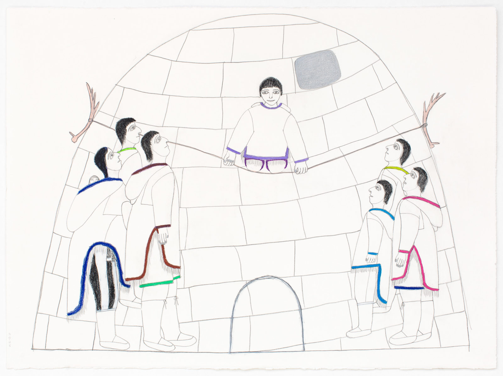 Janet Kigusiuq - untitled (igloo suspense)
