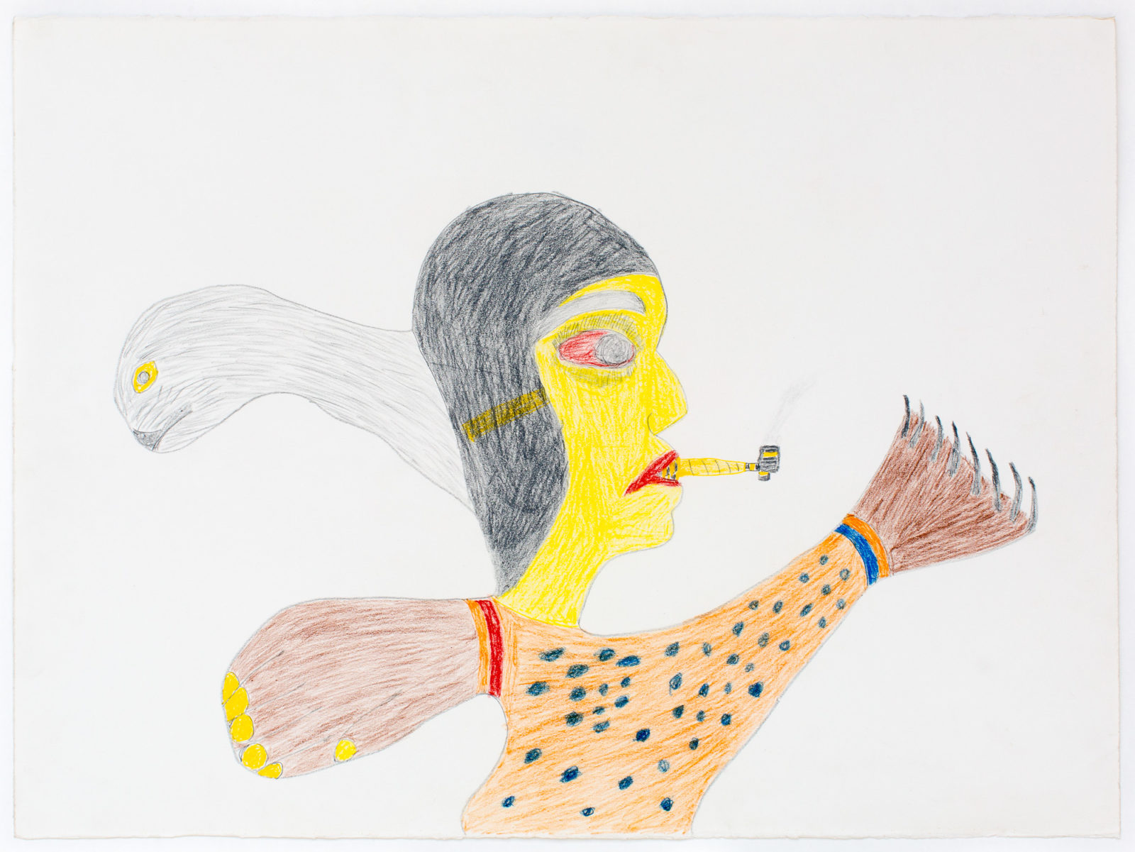Francoise Oklaga - untitled (with seal person pipe)