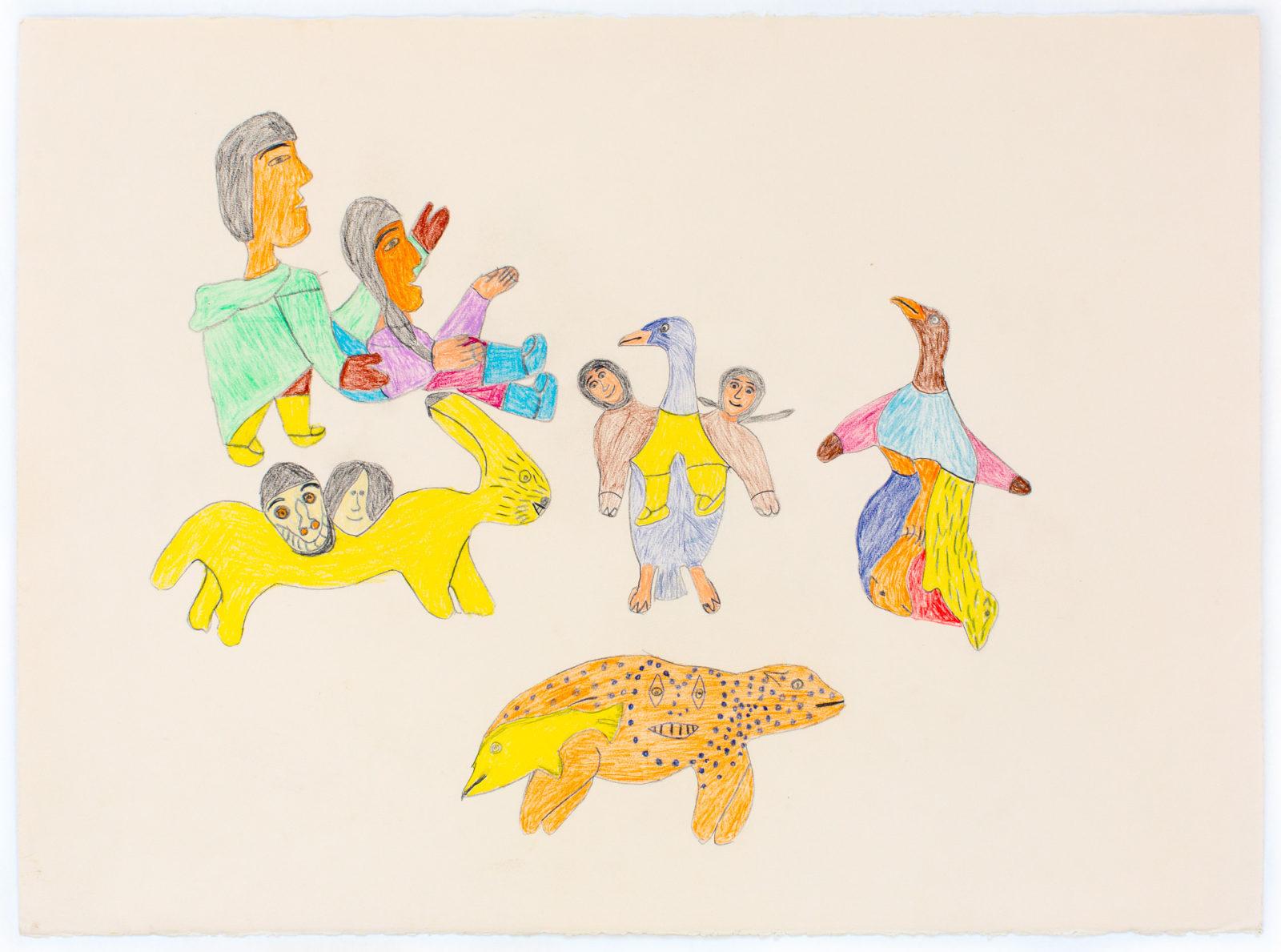 Francoise Oklaga - untitled (shaman and spirits)