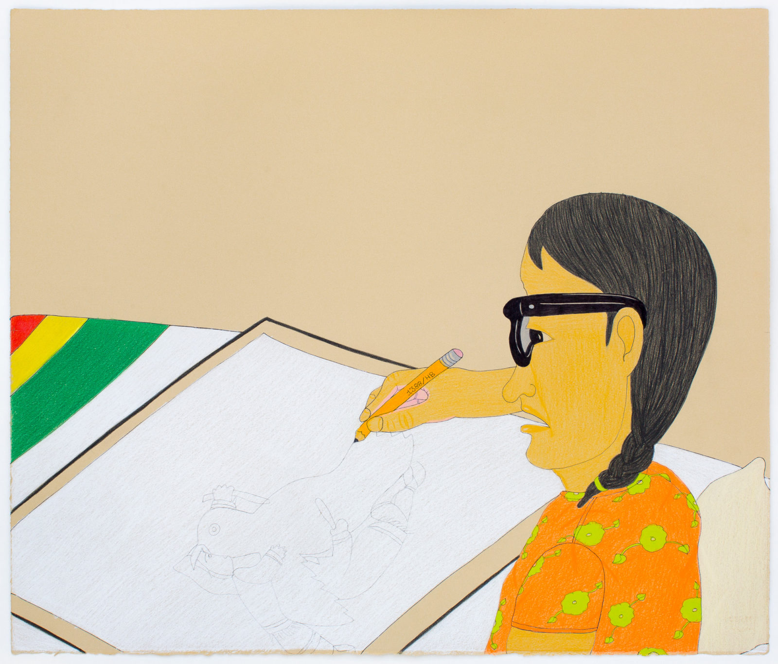 Annie Pootoogook - Drawing With Pencil (Bay Blanket)