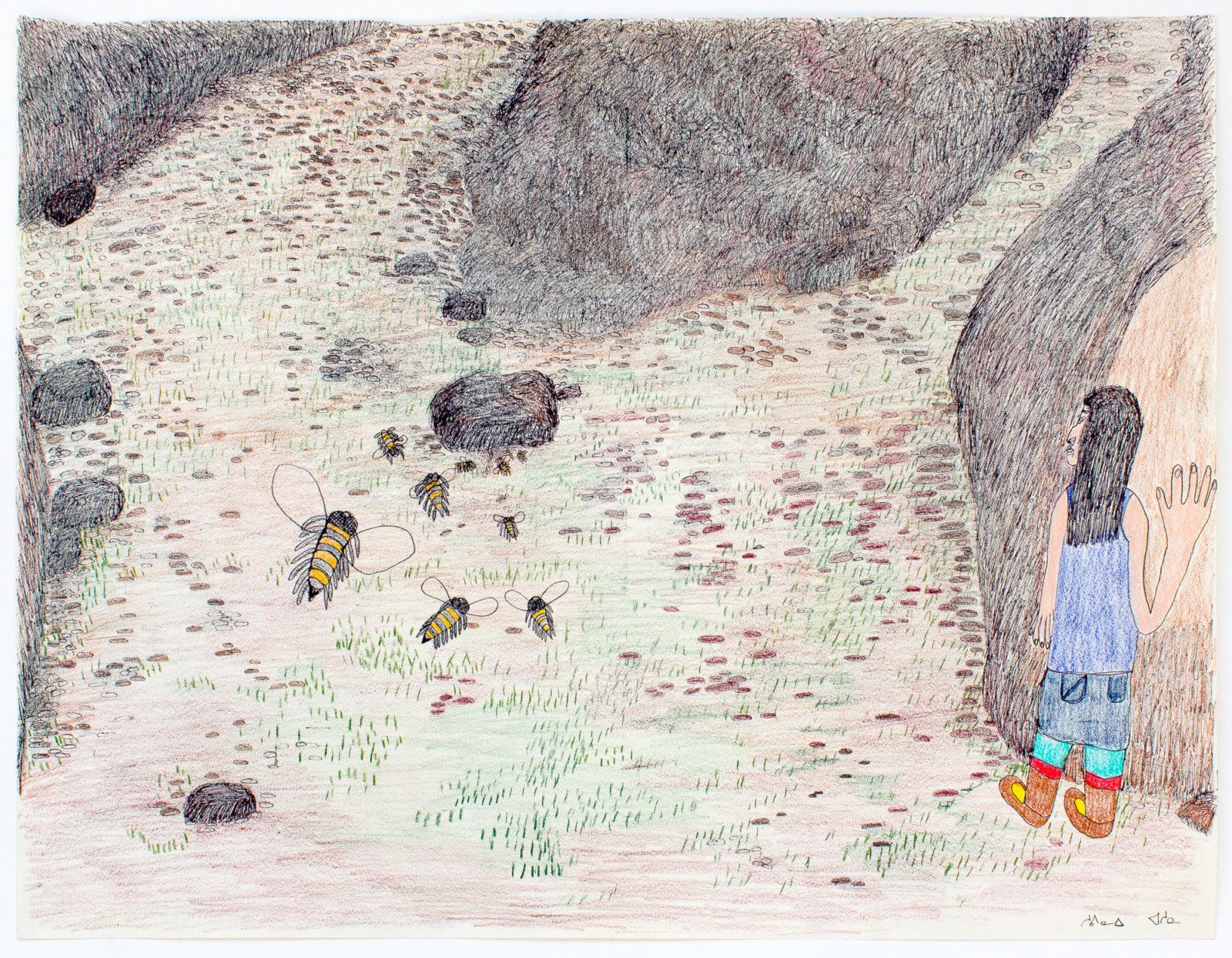 Shuvinai Ashoona - untitled (woman and bees)