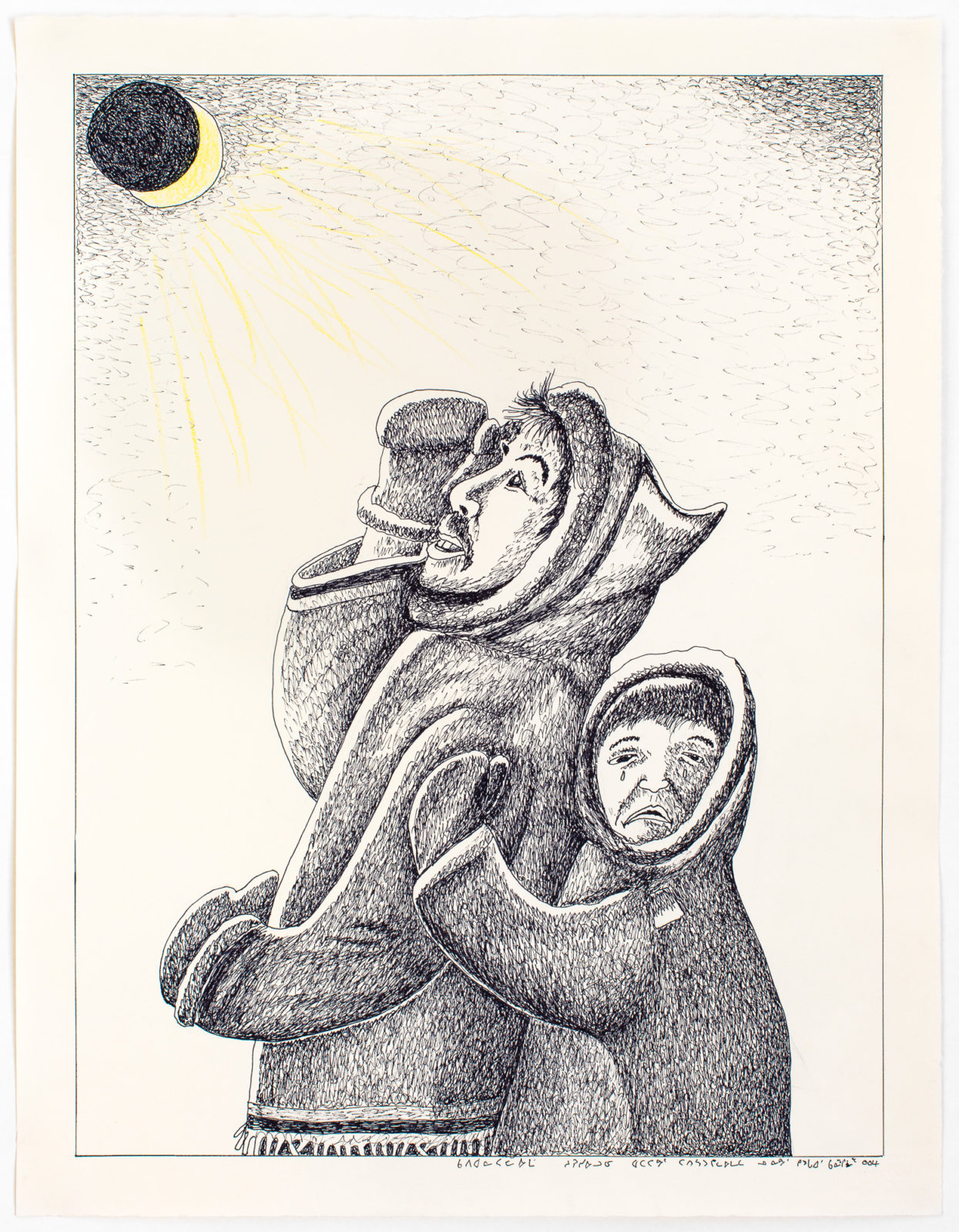 Kananginak Pootoogook - untitled (eclipse)