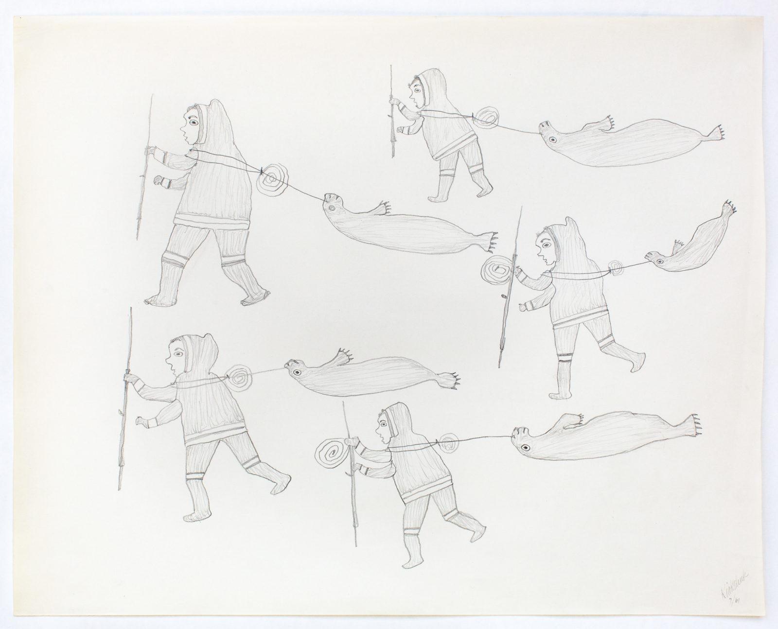 Kiakshuk - untitled (hunters with seals)