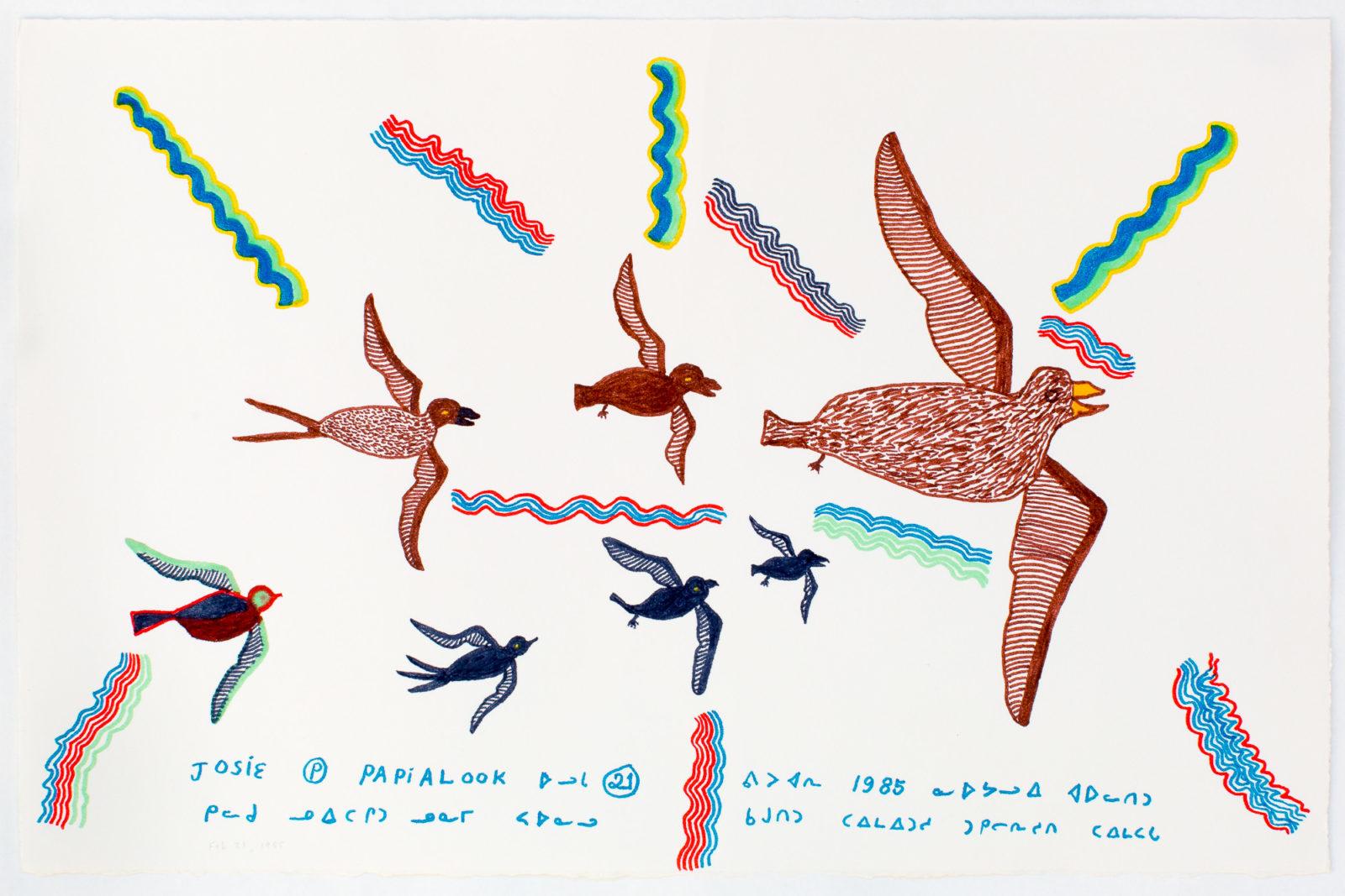 Josie Pamiutu Papialuk  - untitled (birds and wind)