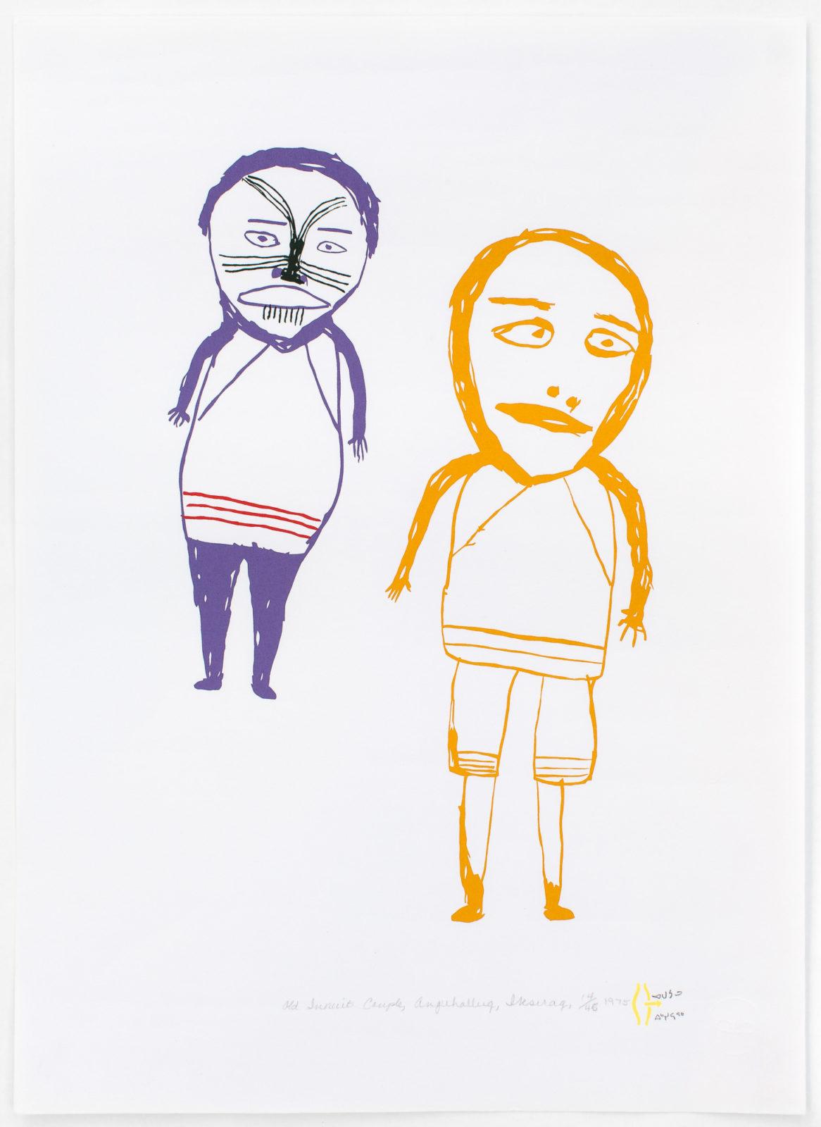 Luke Anguhadluq - Old Inuit Couple