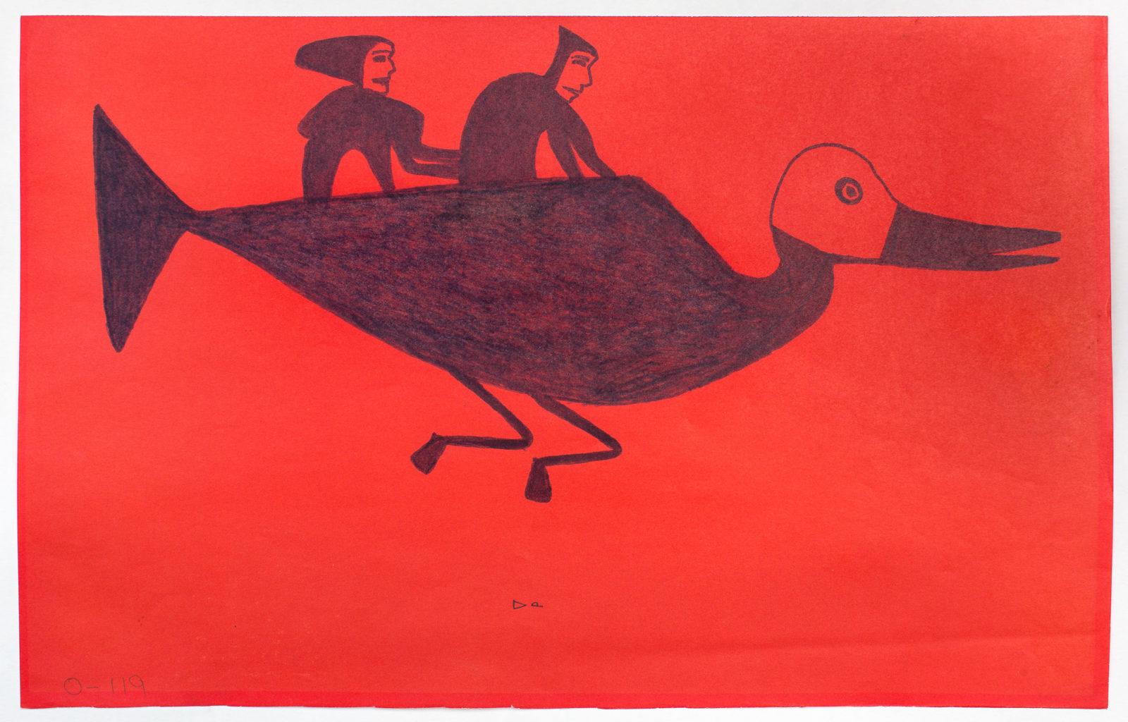 Jessie Oonark - untitled (figures on bird)