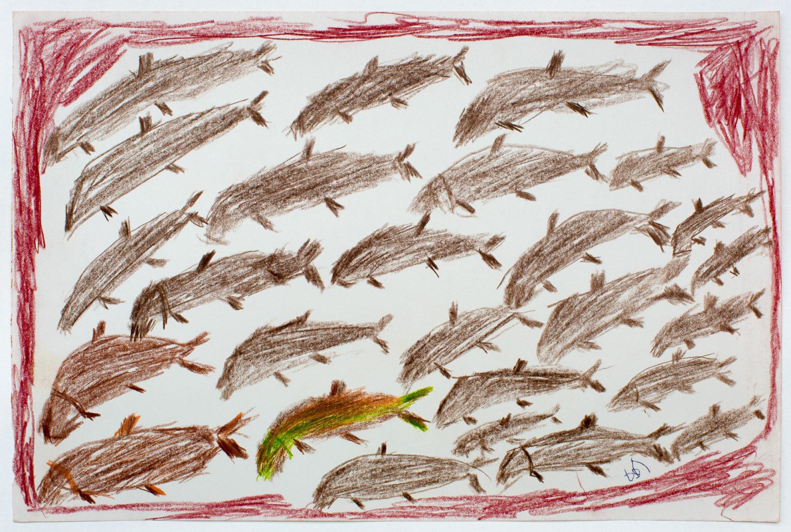 John Kavik - untitled (many fish)