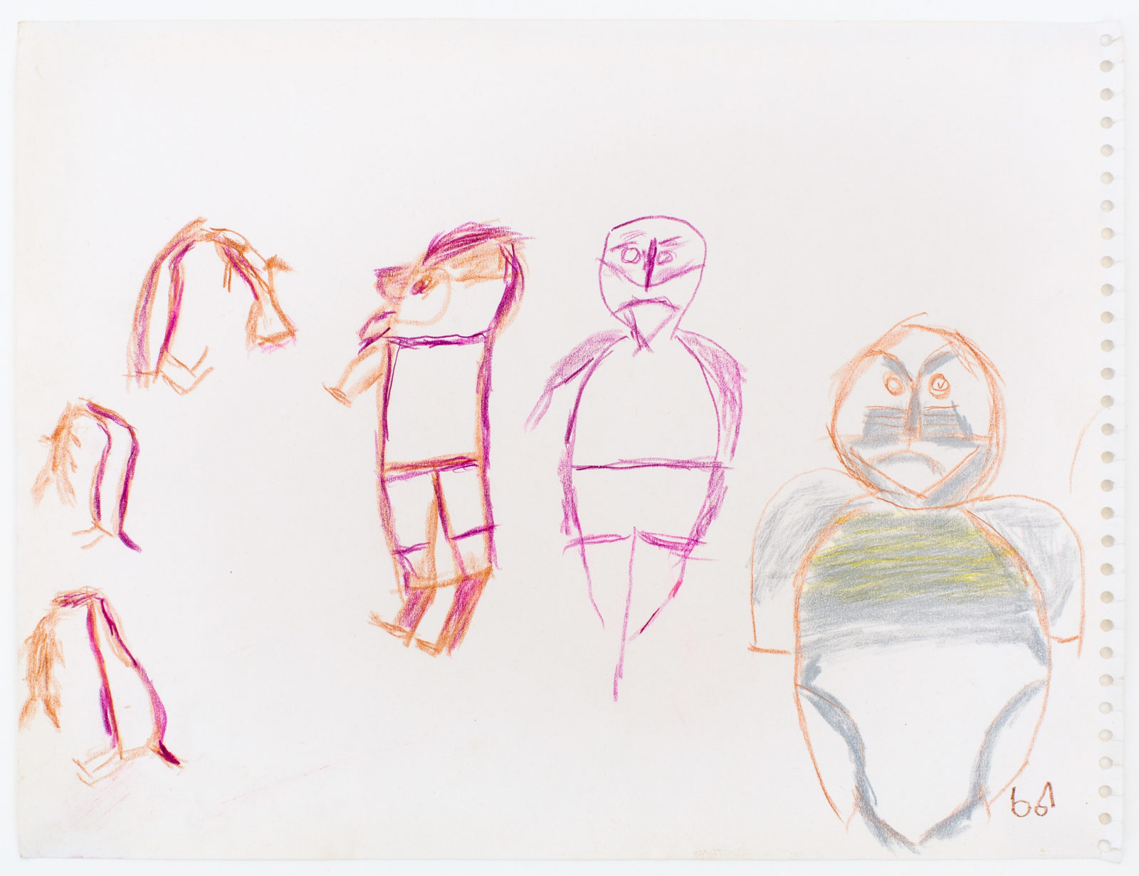 John Kavik - untitled (three figures and three gulls)