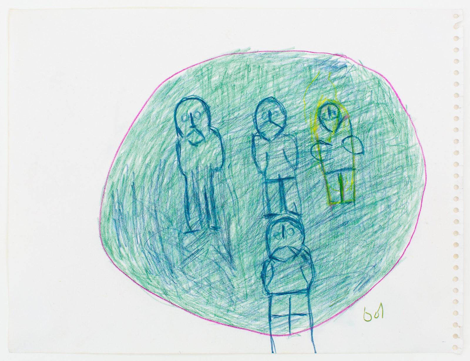 John Kavik - untitled (figures in circle)