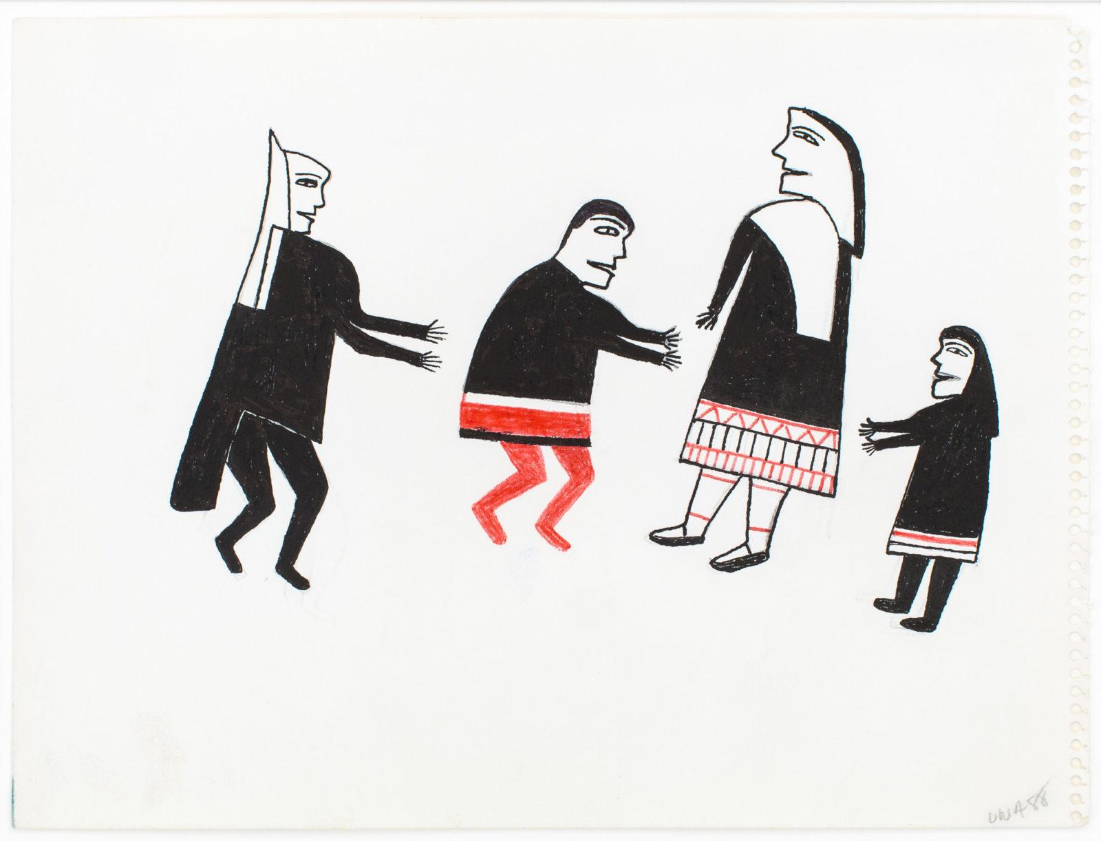 Jessie Oonark - untitled (four figures)