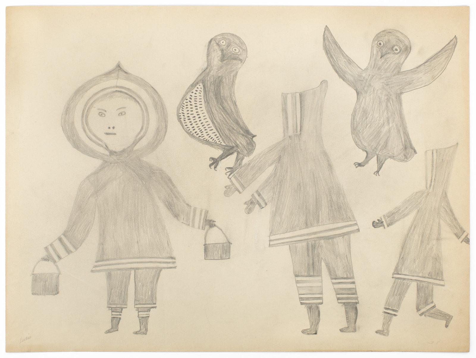 Lucy Quinnauyuak - untitled (gathering eggs)