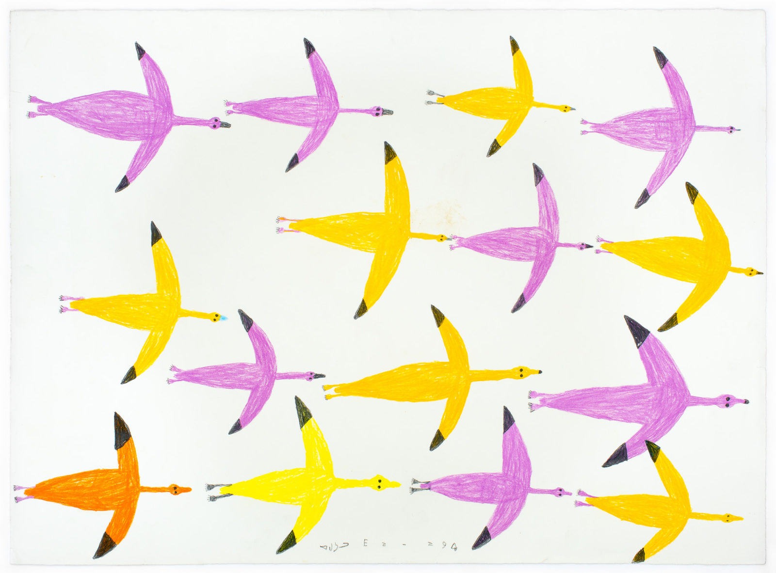 Luke Anguhadluq - untitled (birds in flight)
