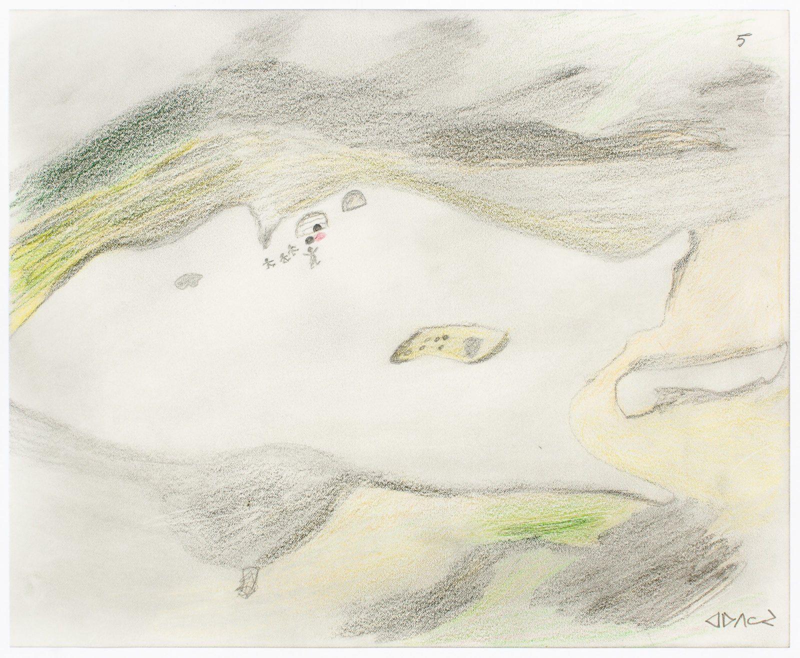 Mariano Aupilardjuk - untitled (people frightened by igloo spirit)