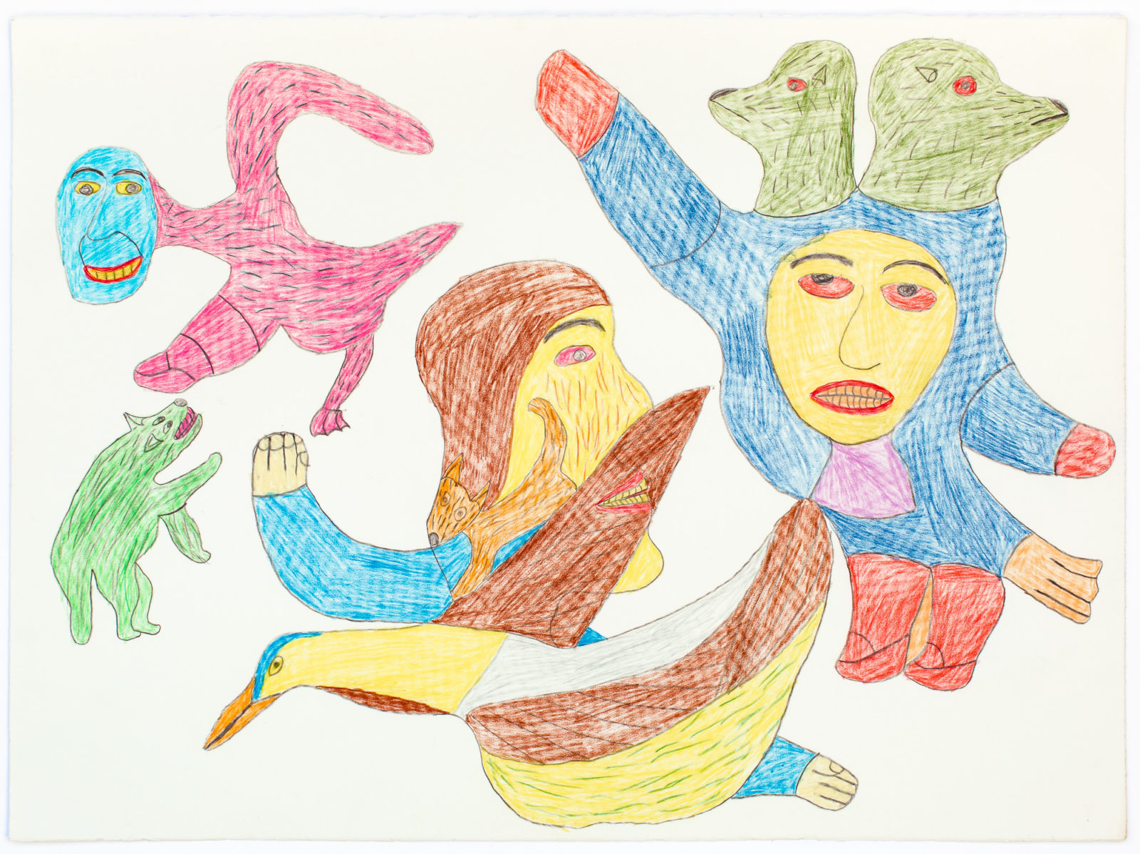 Francoise Oklaga - untitled (with green seal heads)