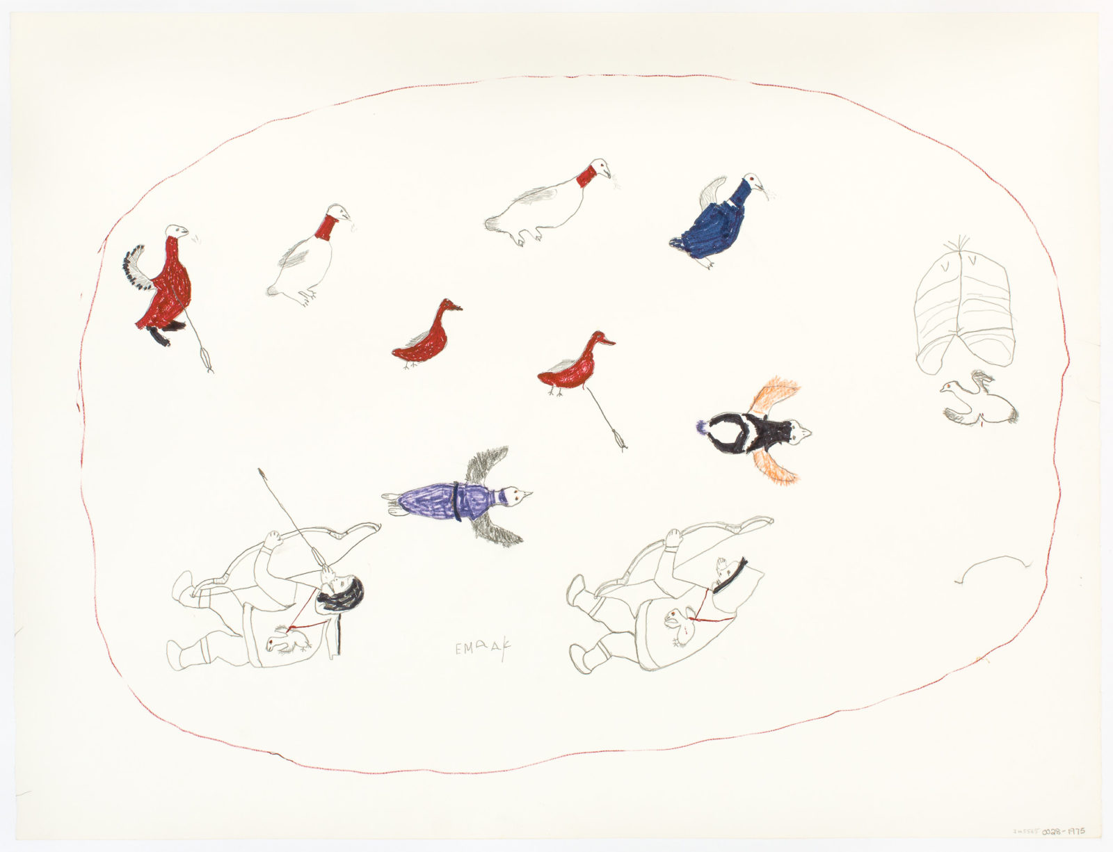 Mark Emerk - untitled (hunting birds)