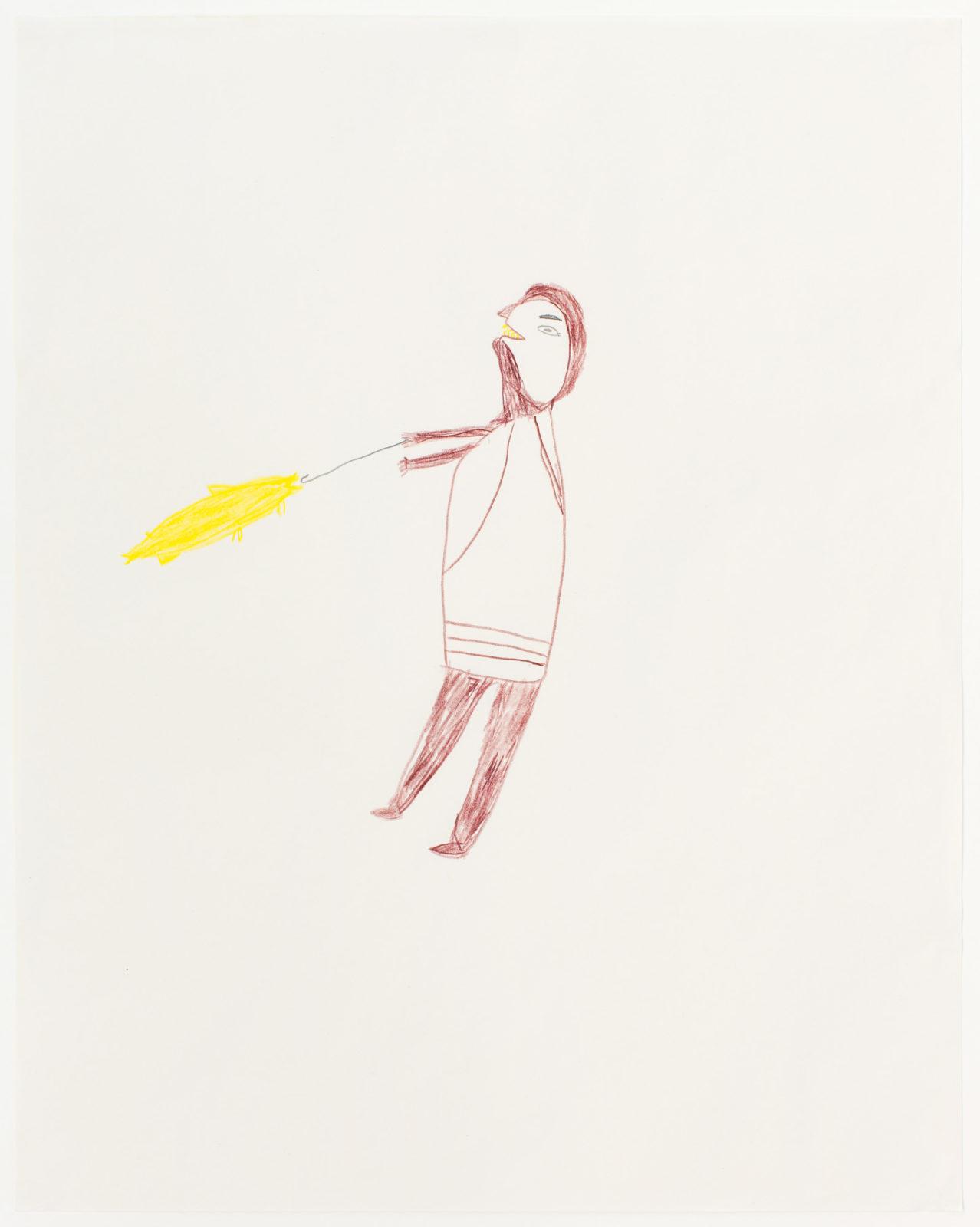 Luke Anguhadluq - untitled (man and fish)