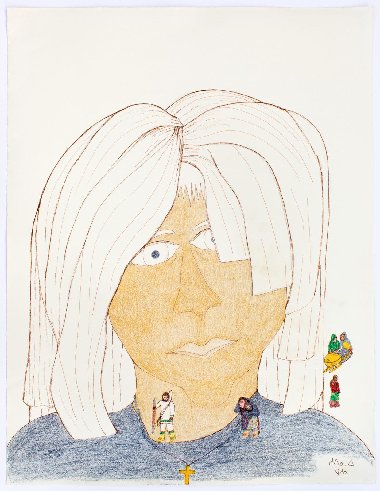 Shuvinai Ashoona - untitled (woman with small figures)