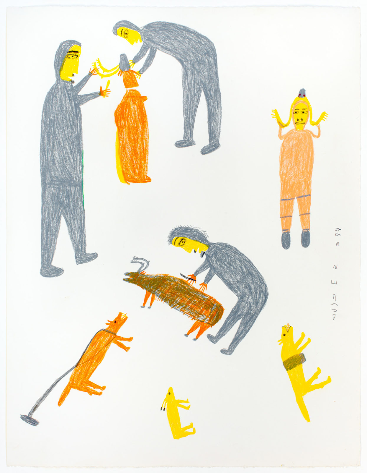 Luke Anguhadluq - untitled (butchering animals)