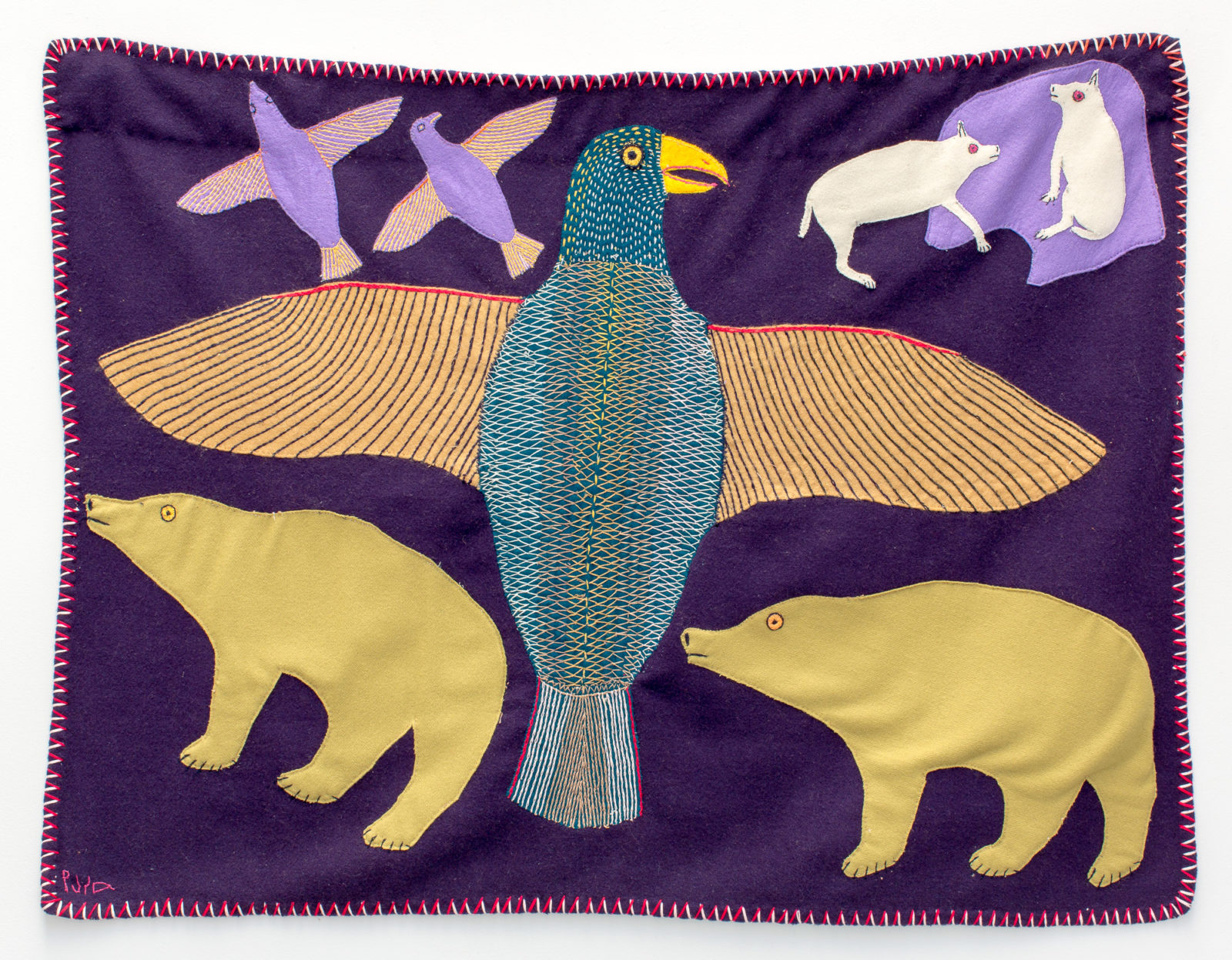 Janet Kigusiuq - untitled (wall hanging)