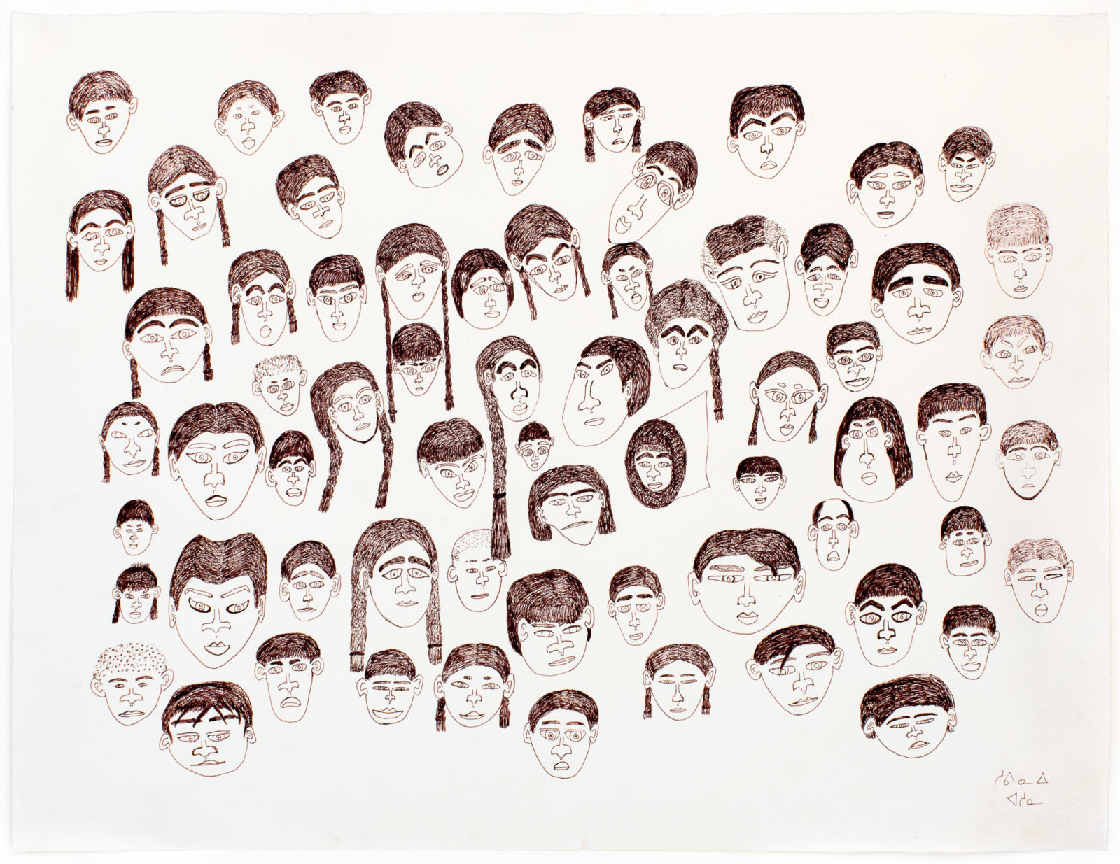 Shuvinai Ashoona - untitled (faces)