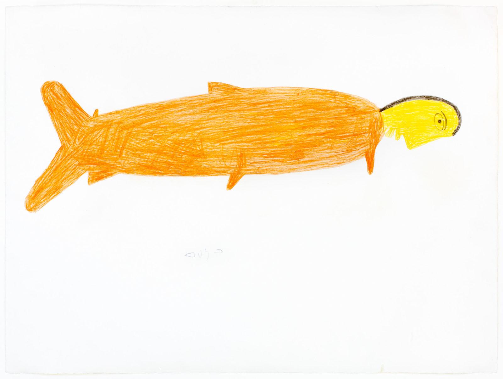 Luke Anguhadluq - untitled (fish spirit)