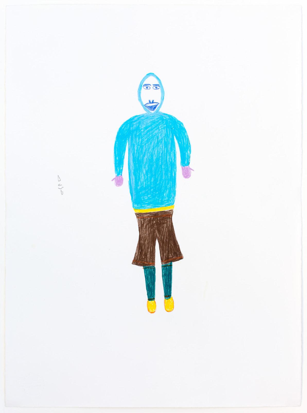 Luke Anguhadluq - untitled (inuk with brown pants)