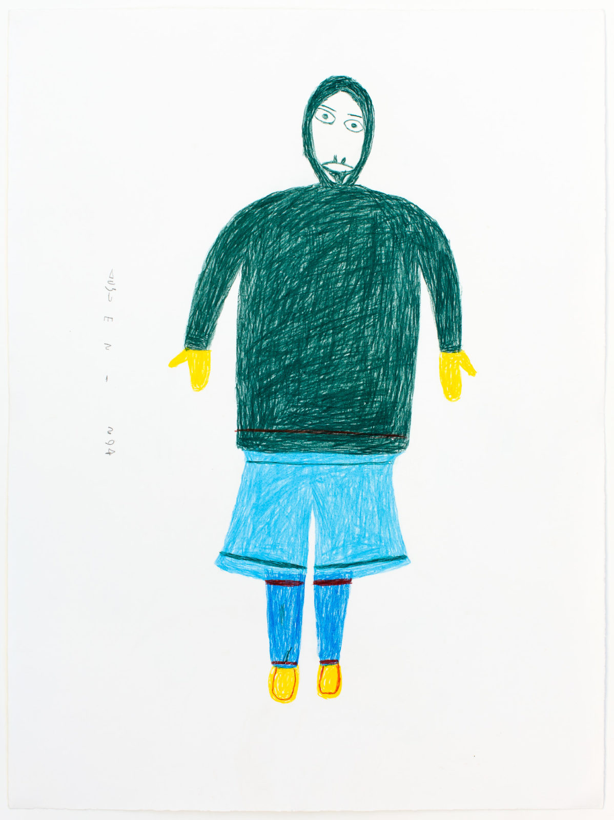 Luke Anguhadluq - untitled (inuk with blue pants)