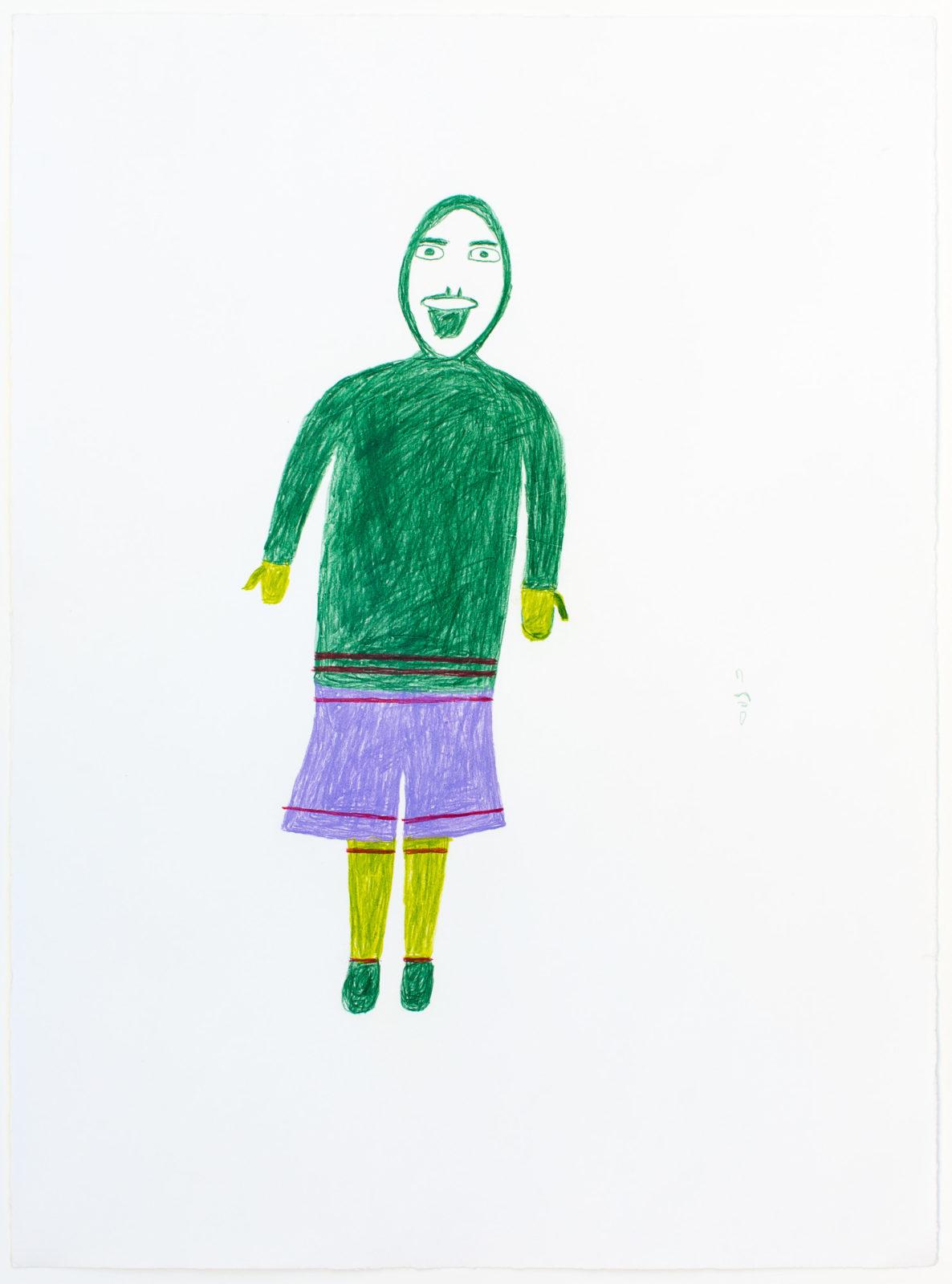 Luke Anguhadluq - untitled (inuk with purple pants)