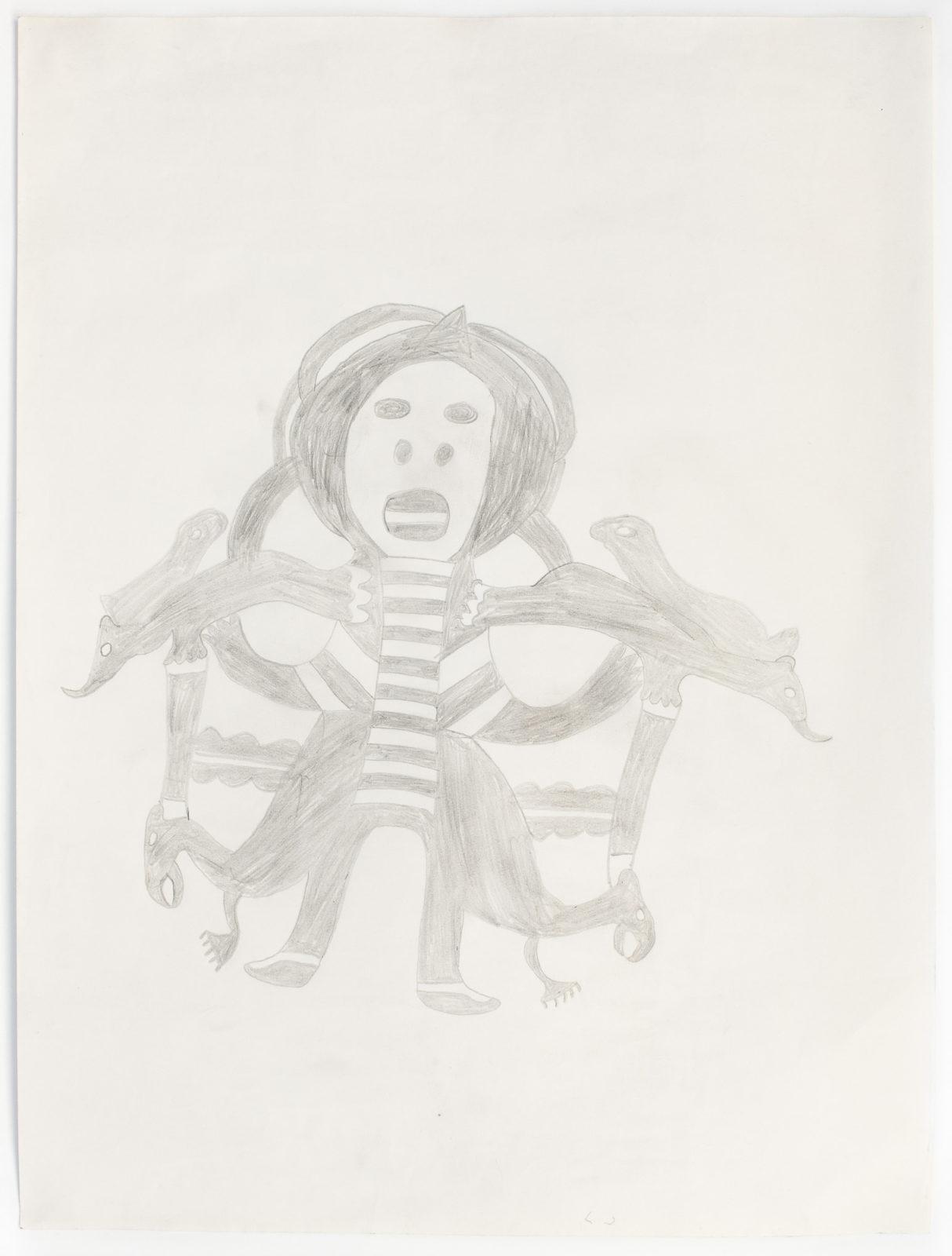 Pudlo Pudlat - untitled (fantasy figure)