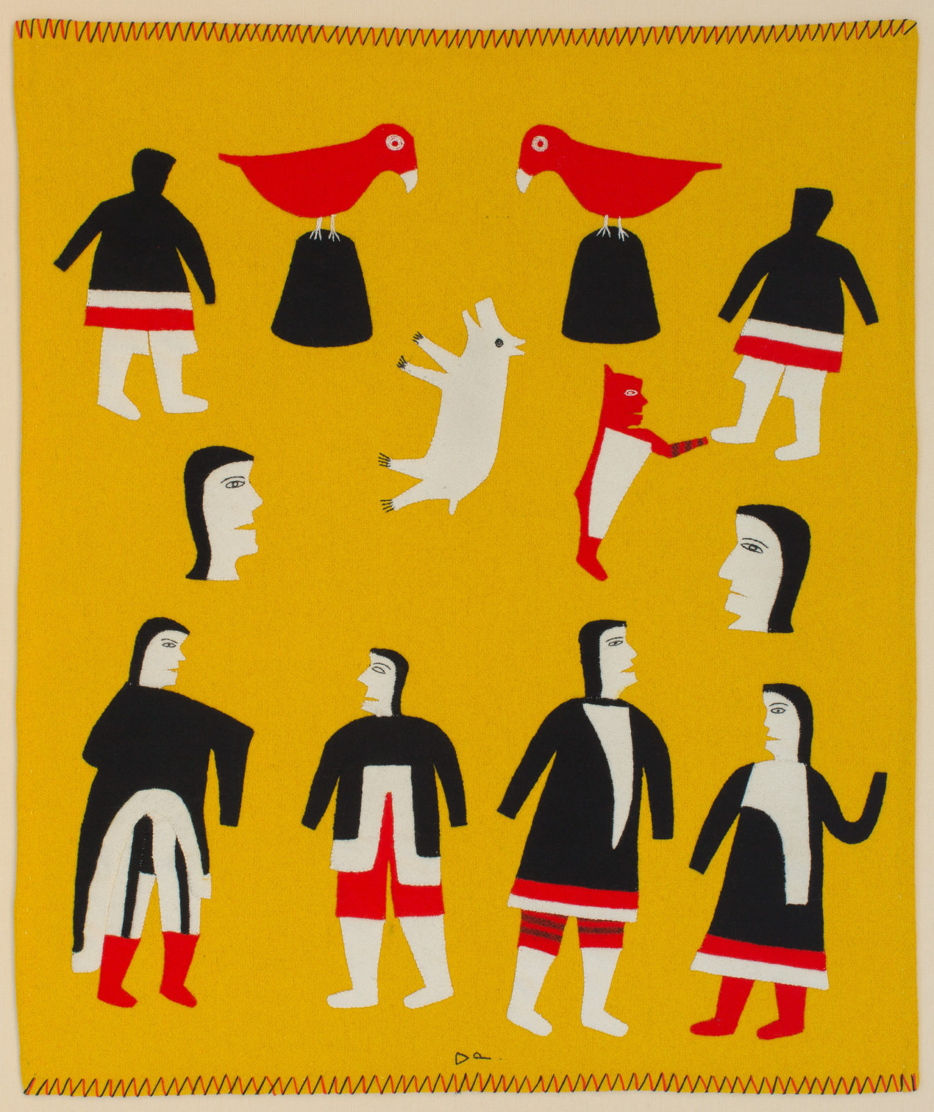 Jessie Oonark - untitled  (with red spirit figure)
