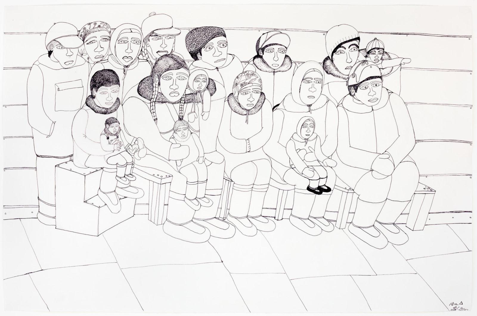 Shuvinai Ashoona - untitled (seated group portrait)
