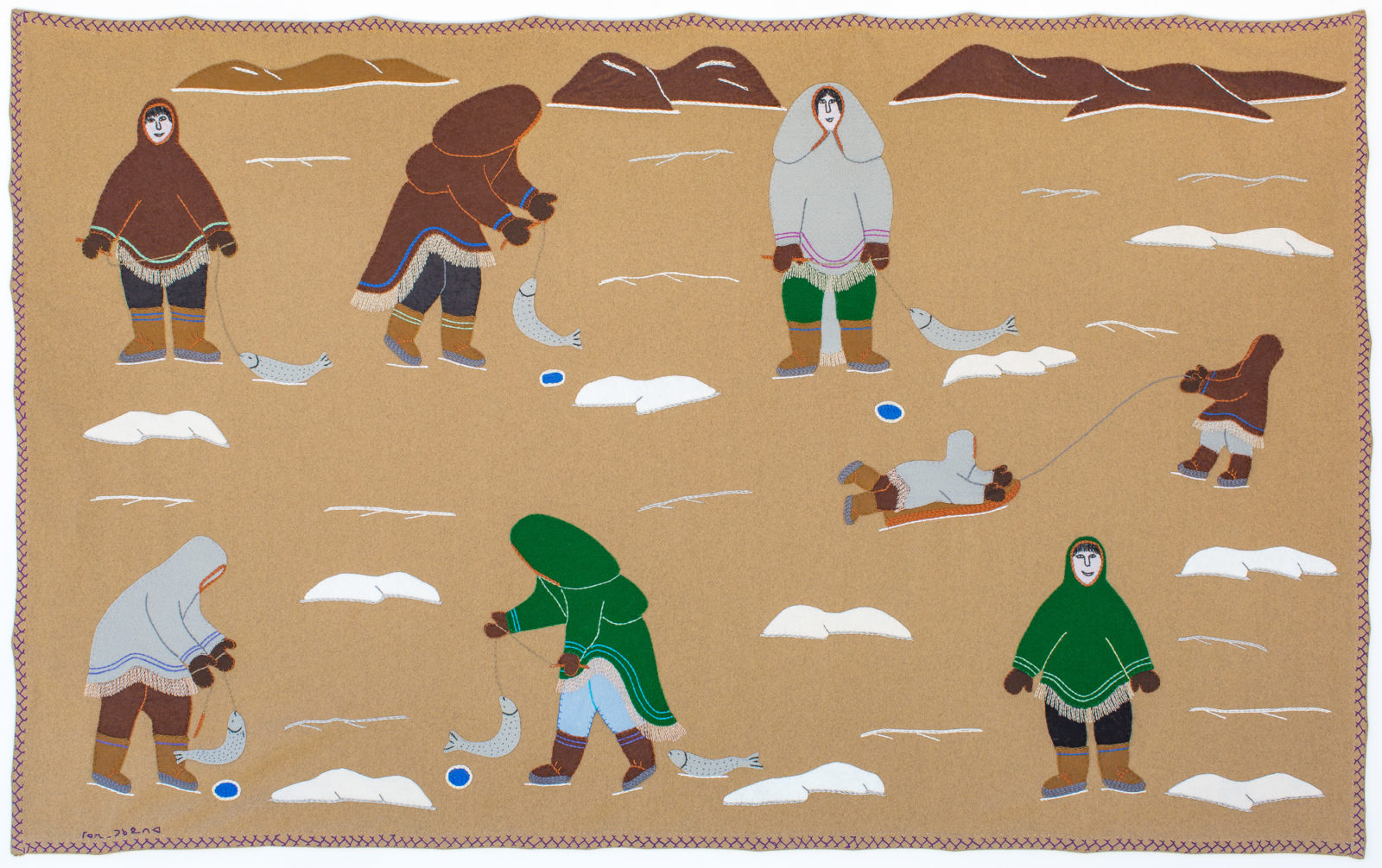 Mary Tookoome - untitled (ice fishing)