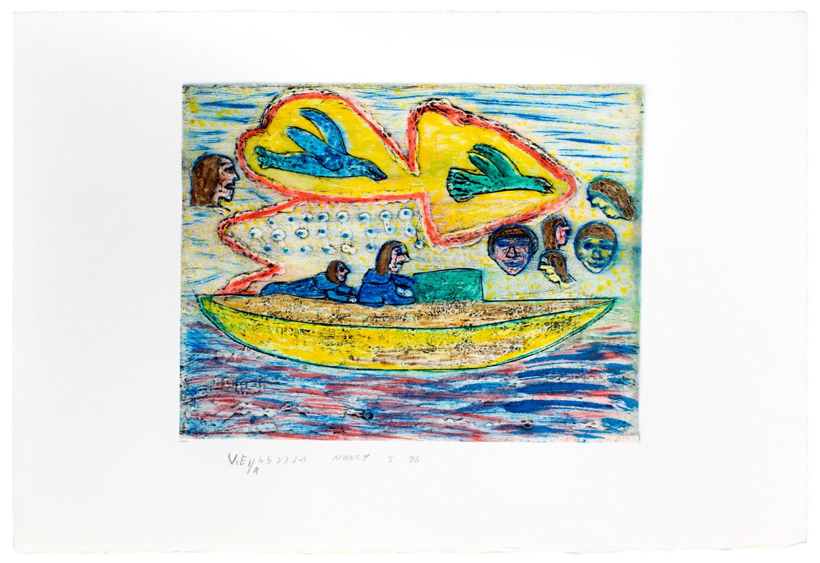 Nancy Kangeryuak Sevoga - Crossing By Kayak