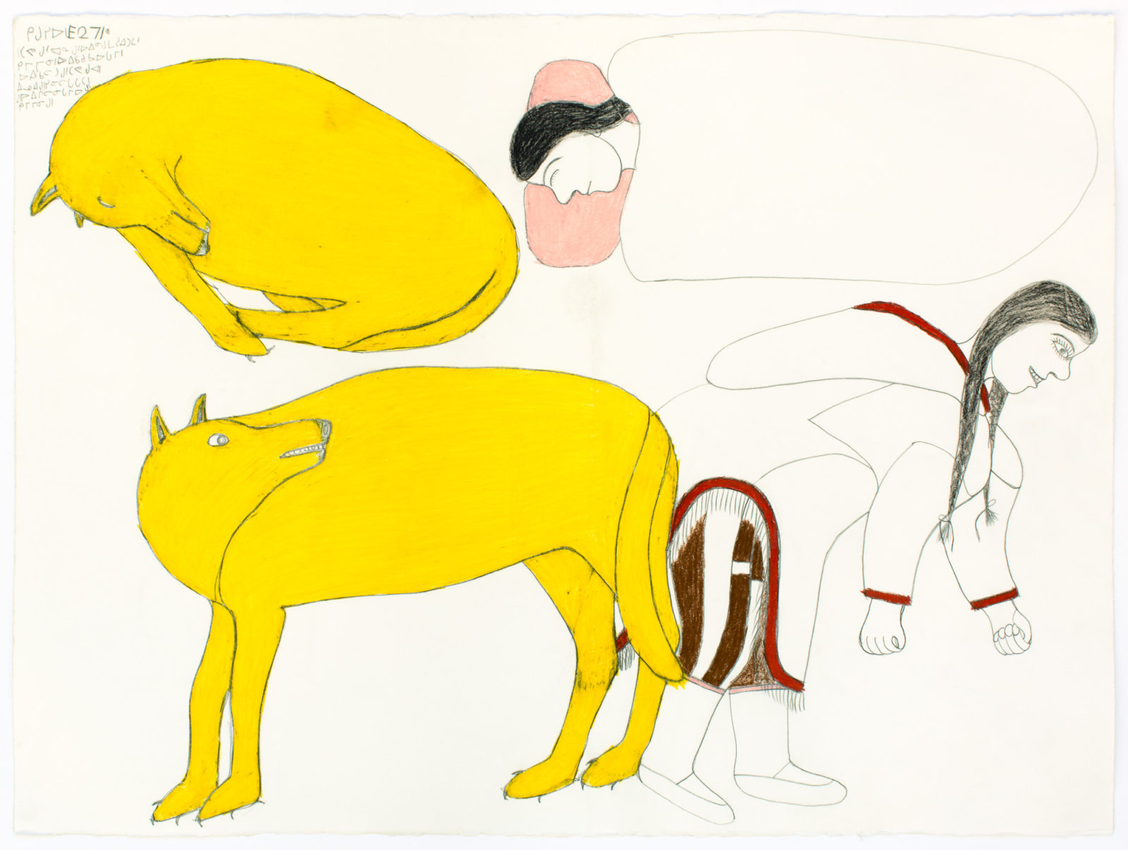 Janet Kigusiuq - untitled (woman who married a dog)