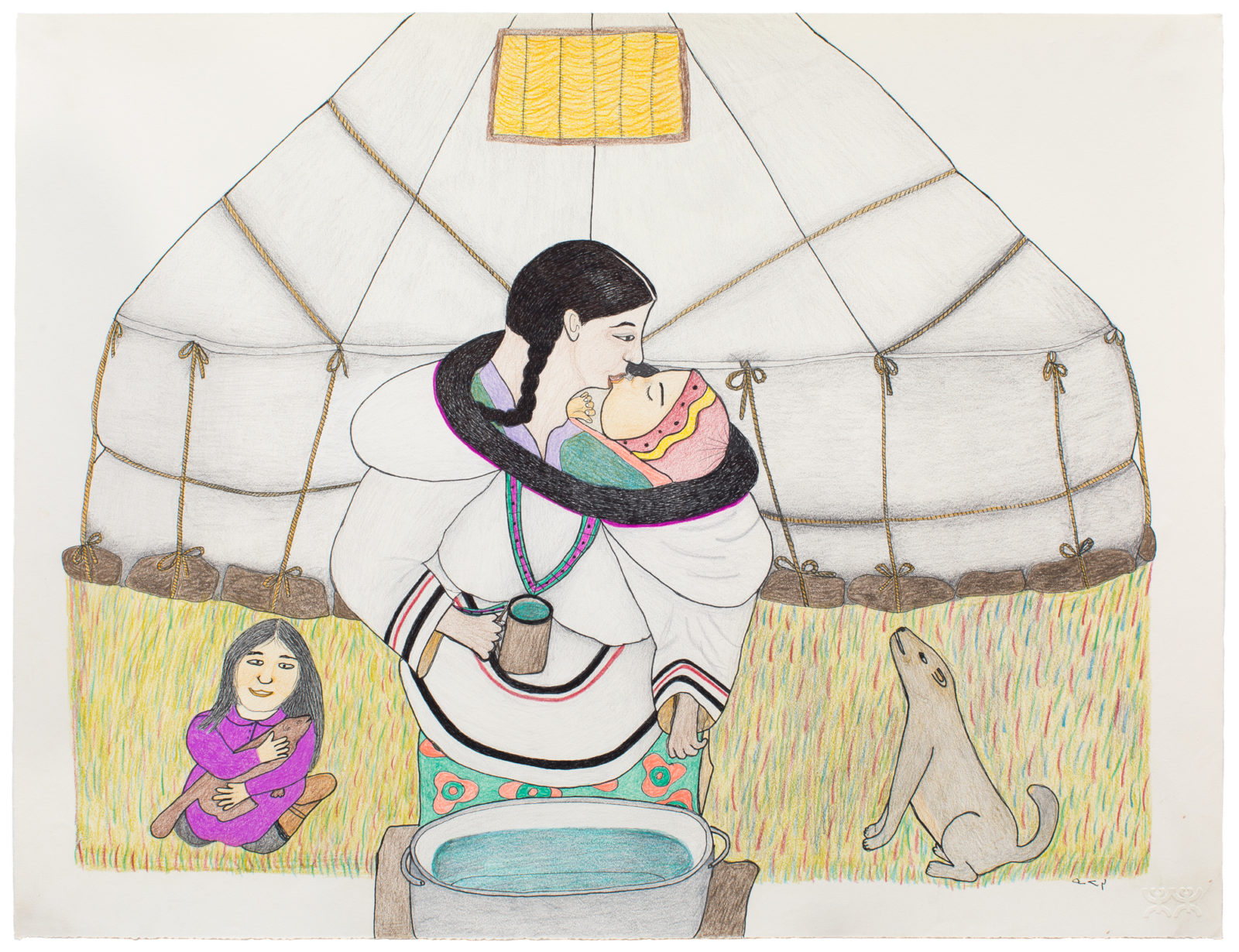 Napatchie Pootoogook - untitled (giving water)