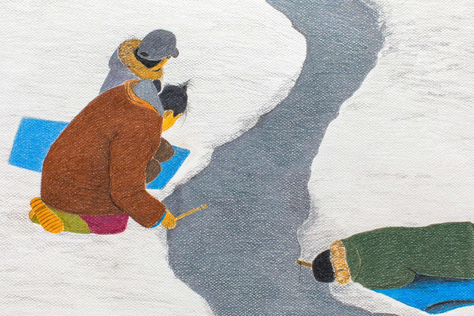 Itee Pootoogook - Jigging Through The Crack In The Fish Lake
