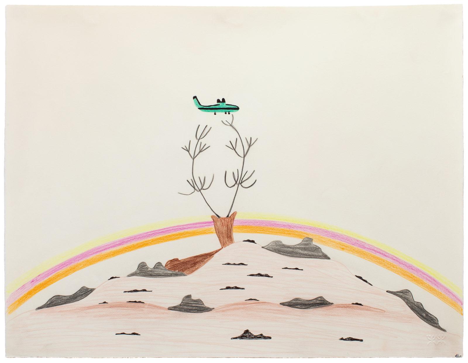 Pudlo Pudlat - untitled (caribou and plane)