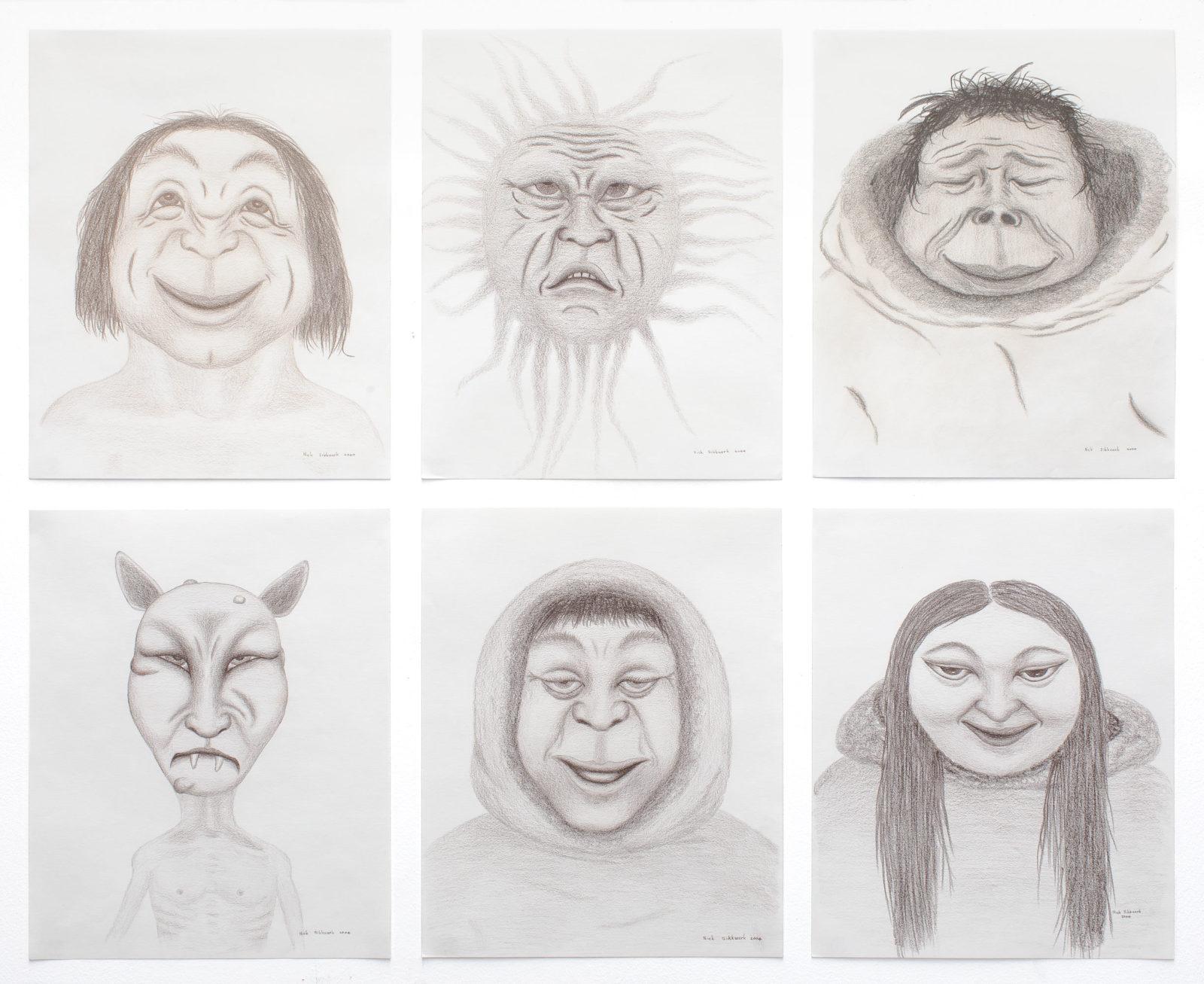 Nick Sikkuark - untitled (portrait series)