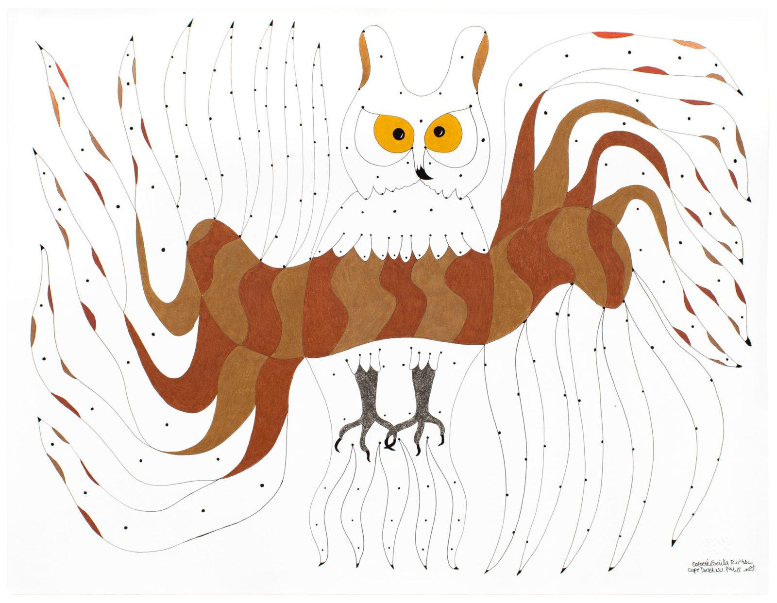 Ooloosie Saila - untitled (surreal owl)