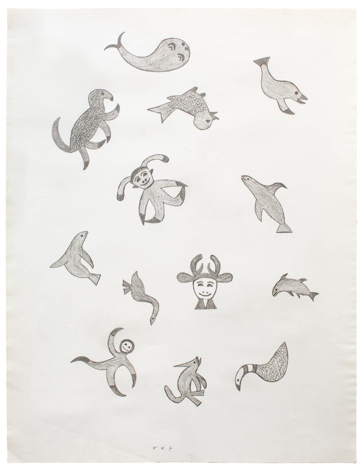 Mary Igiu - untitled (arrangement of creatures)