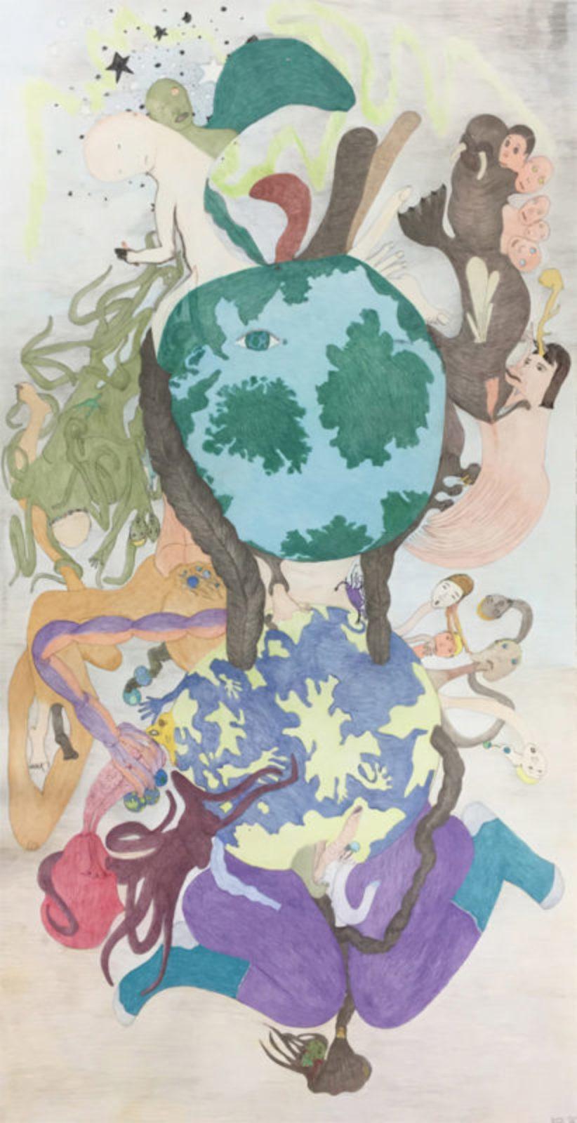Shuvinai Ashoona - untitled (mother earth)