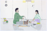 Annie Pootoogook - untitled (making rope and bannock)