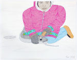 Annie Pootoogook - Woman Cutting Fish