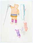 Bessie Scottie Iquginnaaq - untitled (inuk with dog team)