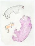 Bessie Scottie Iquginnaaq - untitled (bears on caribou kill)