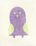 Sheojuk Etidlooie - untitled (purple bird with green wings)
