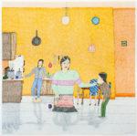 Annie Pootoogook - untitled (preparing a meal)